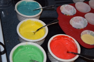 Batter + Food Coloring